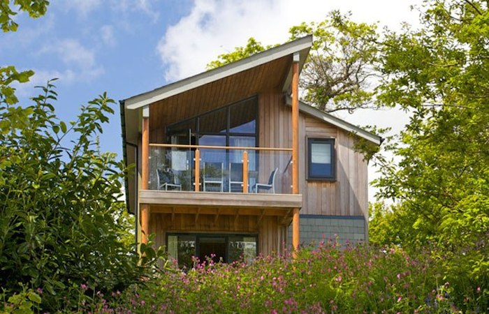 Luxury woodland holiday homes to rent at the cornwall for Luxury cottage homes